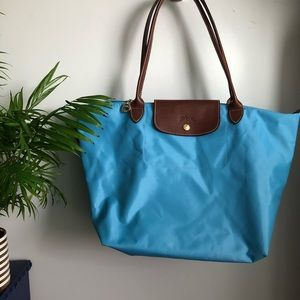 NWOT Blue Longchamp Le Pliage bag